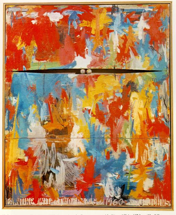 Painting with Two Balls by Jasper Johns | Oil Painting | WahooArt.com