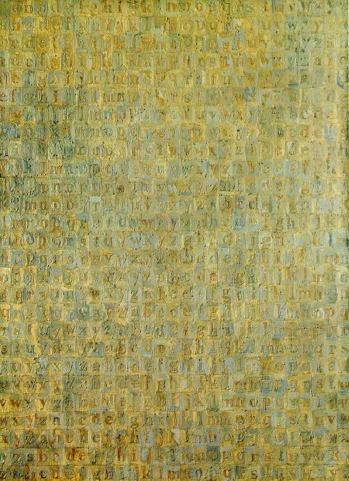 Grey Alphabets by Jasper Johns