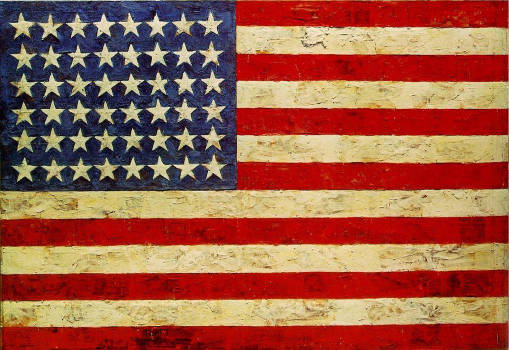 Order Art Reproduction : Flag by Jasper Johns | WahooArt.com