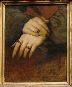 Jean Auguste Dominique Ingres - Study of a woman's hands