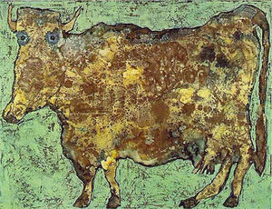 Jean Philippe Arthur Dubuffet - The Cow With The Subtle Nose