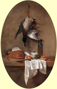 Jean-Baptiste Simeon Chardin - Duck with an Olive Jar