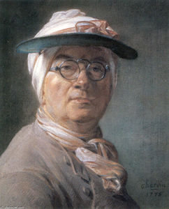 Jean-Baptiste Simeon Chardin - Self-portrait wearing Glasses