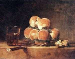 Jean-Baptiste Simeon Chardin - Basket of Peaches - (paintings reproductions)