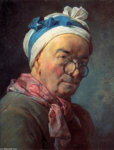 Jean-Baptiste Simeon Chardin - Self-Portrait with Spectacles