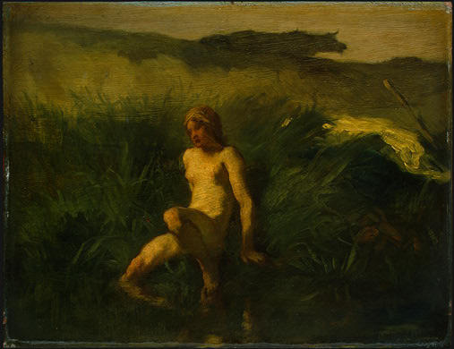Order Museum Quality Reproductions : The bather, 1848 by Jean-François Millet (1814-1875, France) | WahooArt.com