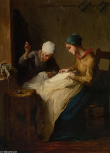 Jean-François Millet - The Young Seamstress