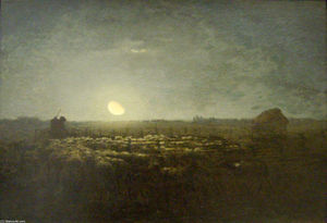 Jean-François Millet - The sheep pen, moonlight