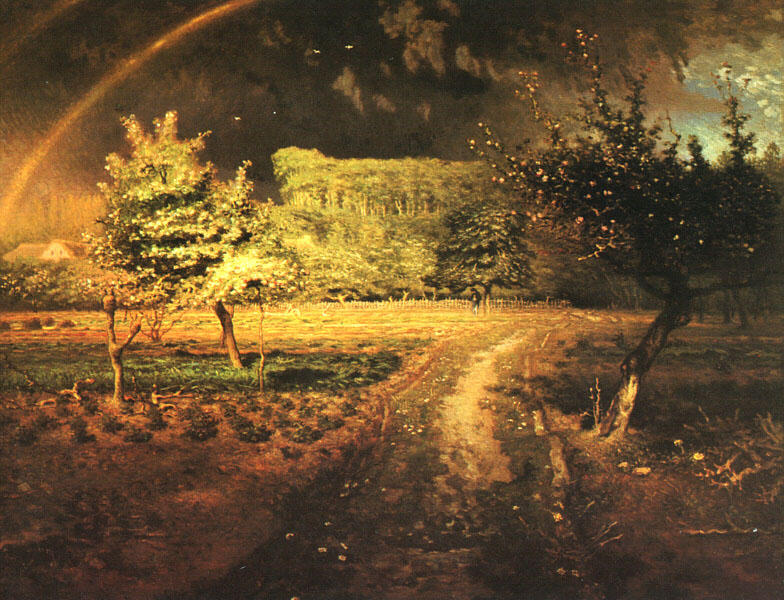 Spring at Barbizon, 1873 by Jean-François Millet (1814-1875, France) | Oil Painting | WahooArt.com