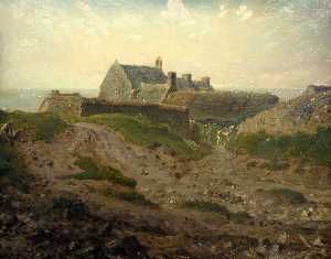 Jean-François Millet - Priory at Vauville, Normandy