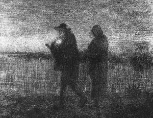 Jean-François Millet - The flight into Egypt