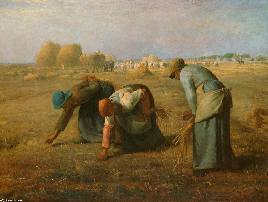 The Gleaners, 1857 by Jean-François Millet (1814-1875, France) | Painting Copy | WahooArt.com