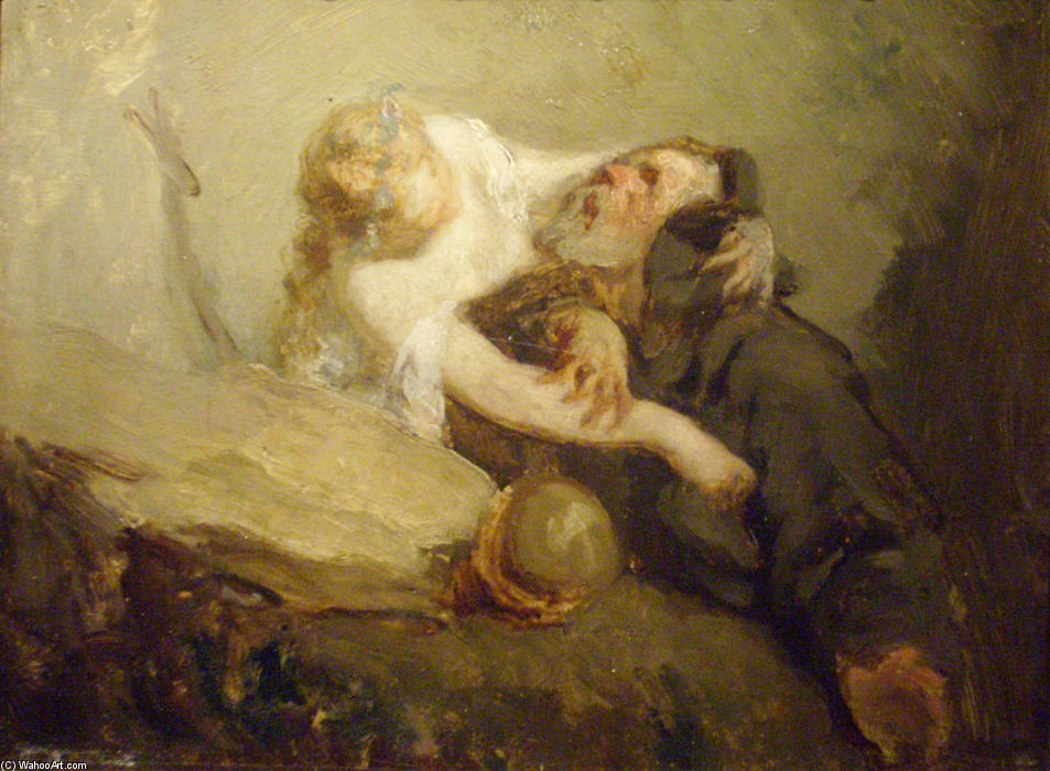 The Temptation of St. Anthony by Jean-François Millet (1814-1875, France) | Museum Quality Reproductions | WahooArt.com