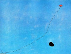 Blue III, Oil On Canvas by Joan Miro  (order Fine Art hand made painting Joan Miro)