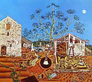 Order Oil Painting : The Farm, 1922 by Joan Miro (1893-1937, Spain) | WahooArt.com