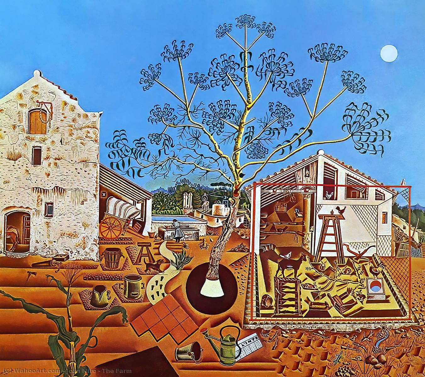 The Farm, 1922 by Joan Miro (1893-1937, Spain) | Oil Painting | WahooArt.com