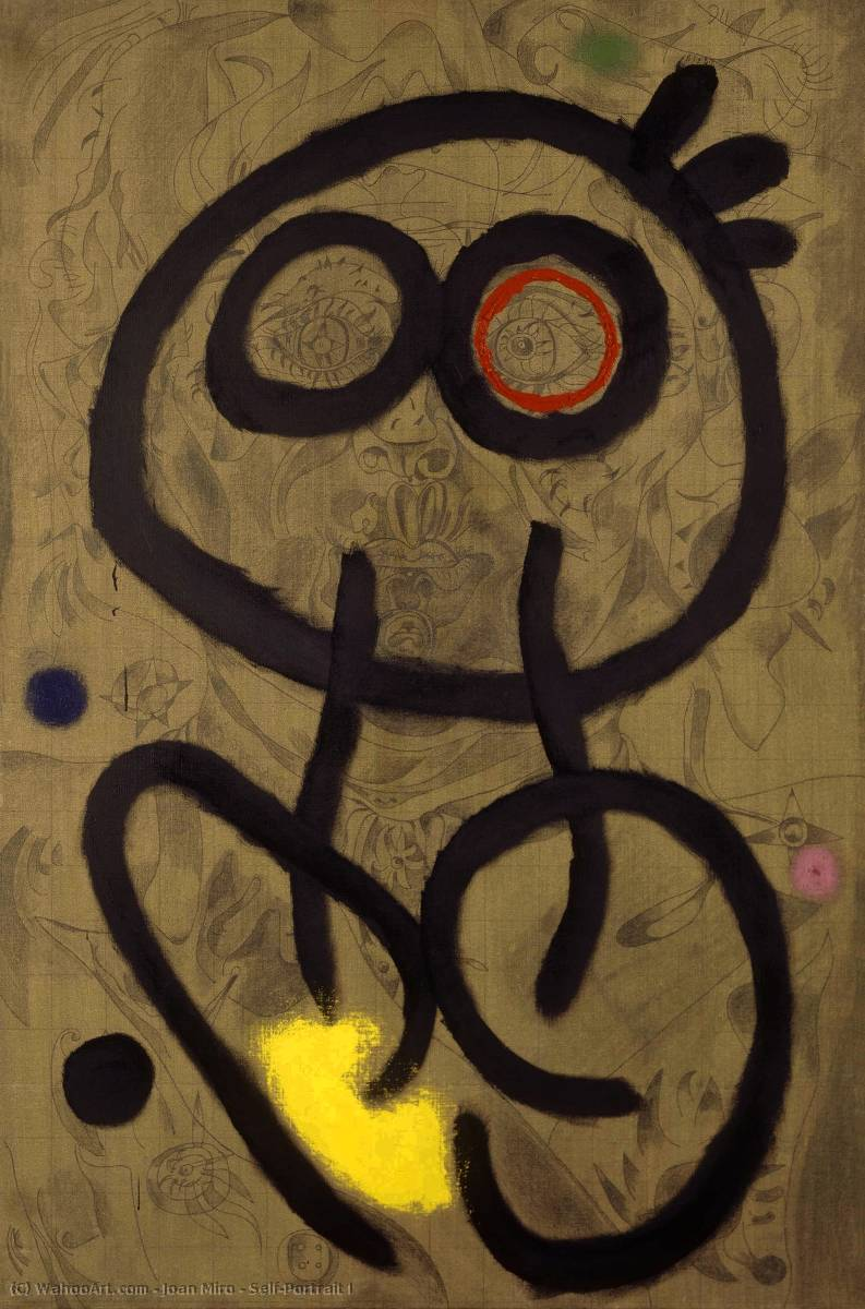 Self-Portrait I by Joan Miro (1893-1937, Spain)