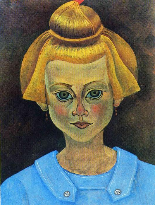 Portrait of a Young Girl, 1915 by Joan Miro (1893-1937, Spain)