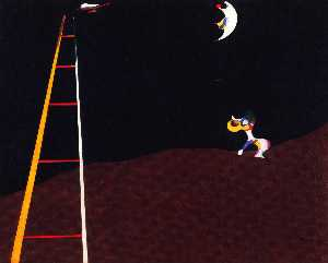 Joan Miro - Dog Barking-at the Moon