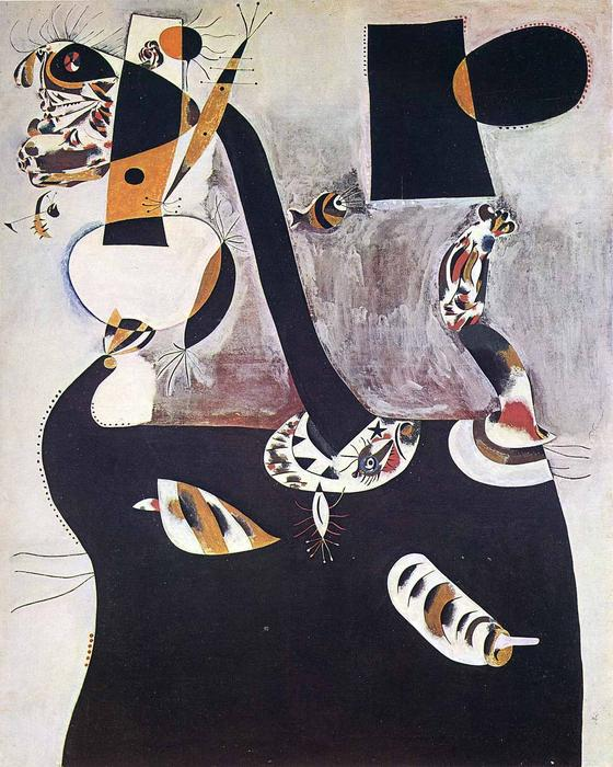 Seated Woman II, 1938 by Joan Miro (1893-1937, Spain) | Museum Quality Reproductions | WahooArt.com