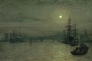 John Atkinson Grimshaw - London Bridge Night