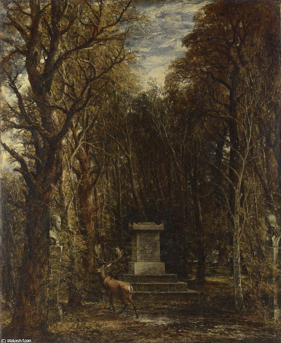 Cenotaph to the Memory of Sir Joshua Reynolds, Oil On Canvas by John Constable (1776-1837, United Kingdom)