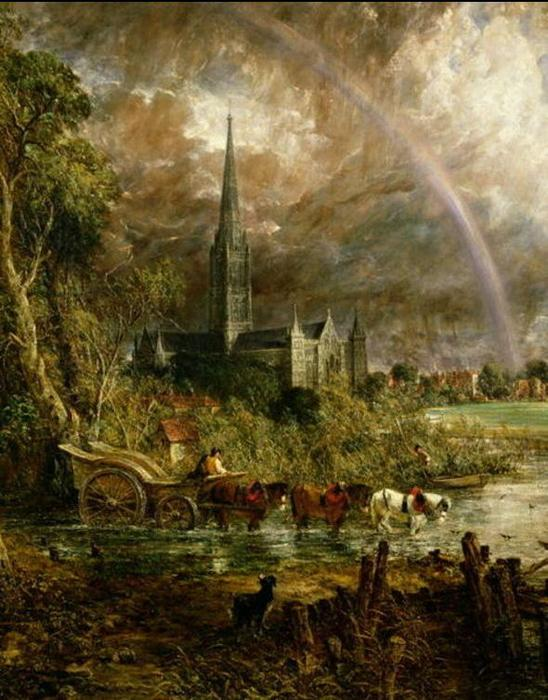 Salisbury Cathedral From the Meadows, 1831 by John Constable (1776-1837, United Kingdom) | Museum Quality Copies John Constable | WahooArt.com