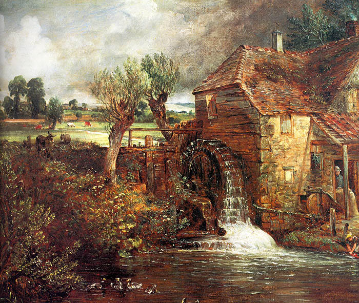 A Mill at Gillingham in Dorset, 1826 by John Constable (1776-1837, United Kingdom) | Museum Quality Copies John Constable | WahooArt.com