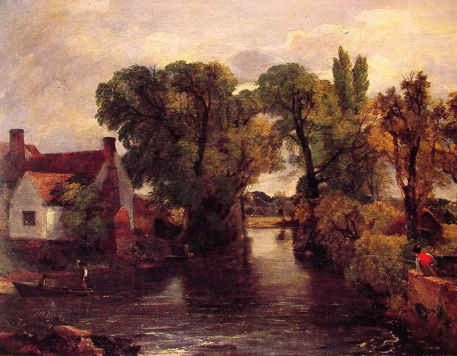 The Mill Stream, Oil On Canvas by John Constable (1776-1837, United Kingdom)