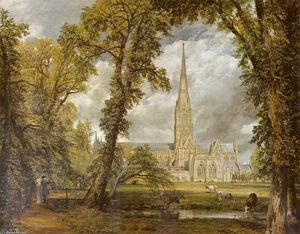 John Constable - View of Salisbury Cathedral from the Bishop-s Grounds