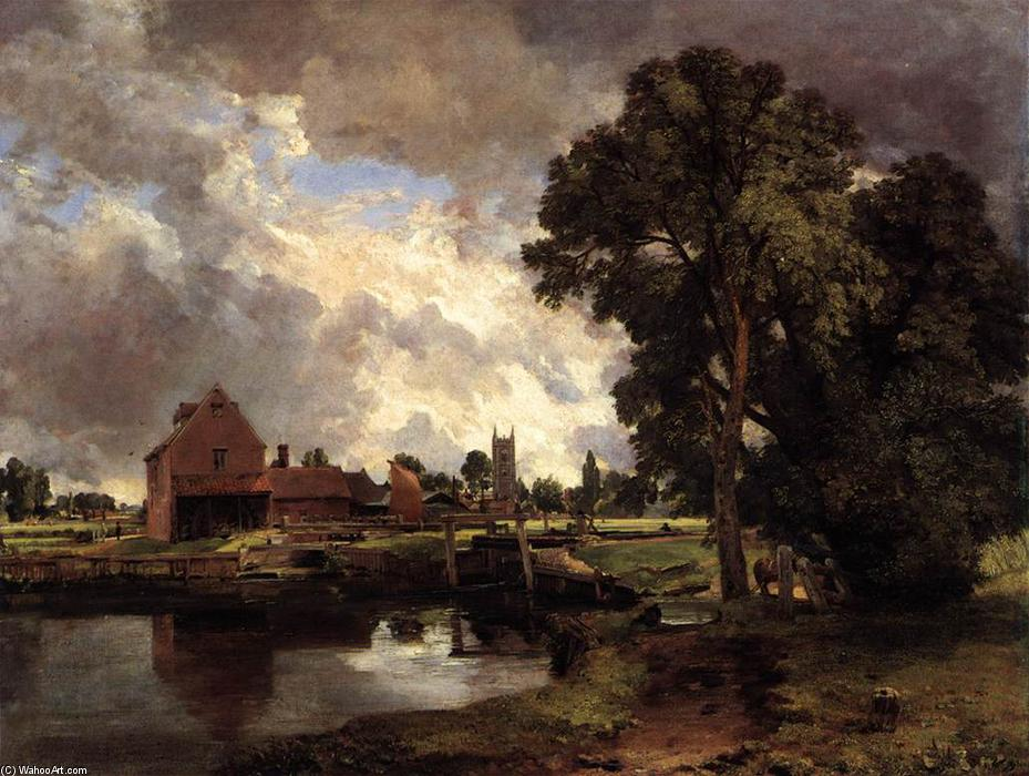 Dedham Lock and Mill, Oil On Canvas by John Constable (1776-1837, United Kingdom)