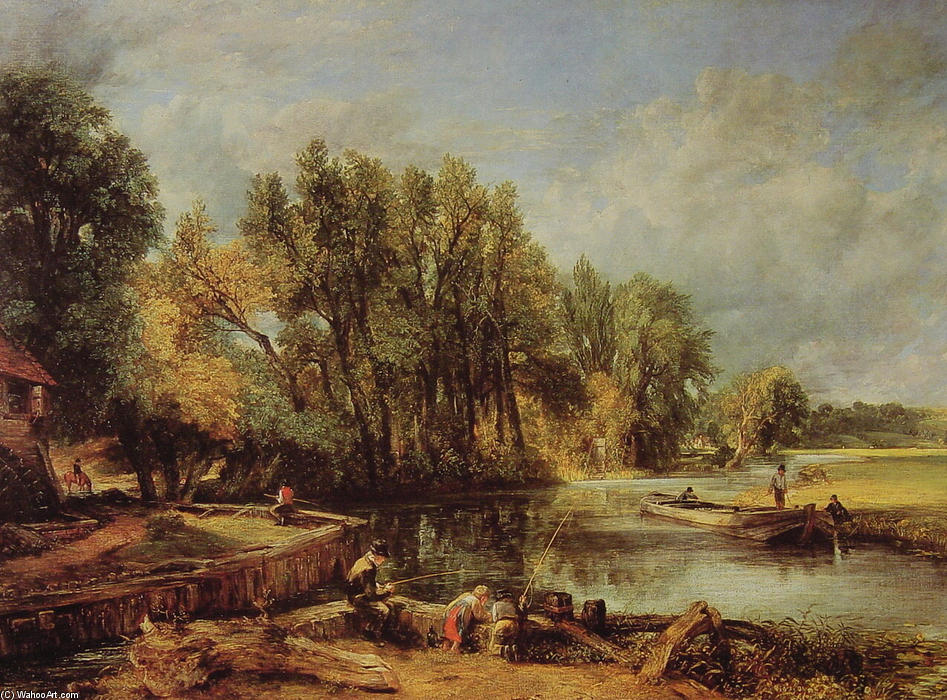 Stratford Mill, Oil On Canvas by John Constable (1776-1837, United Kingdom)