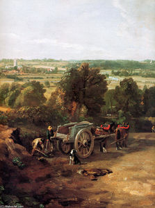 Order Museum Quality Copies | Stour valley and Dedham village by John Constable (1776-1837, United Kingdom) | WahooArt.com
