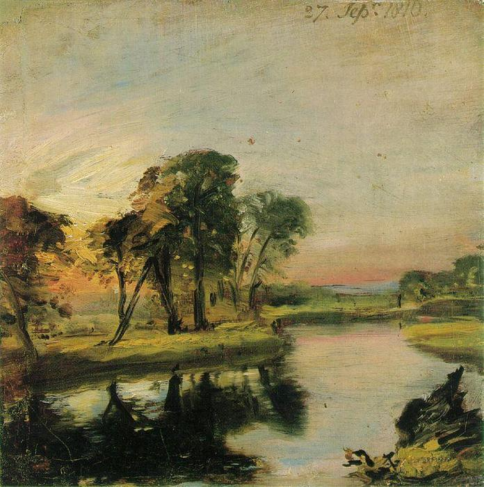 View on the Stour by John Constable (1776-1837, United Kingdom)