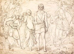 John Everett Millais - Cymon And Iphigenia, Study