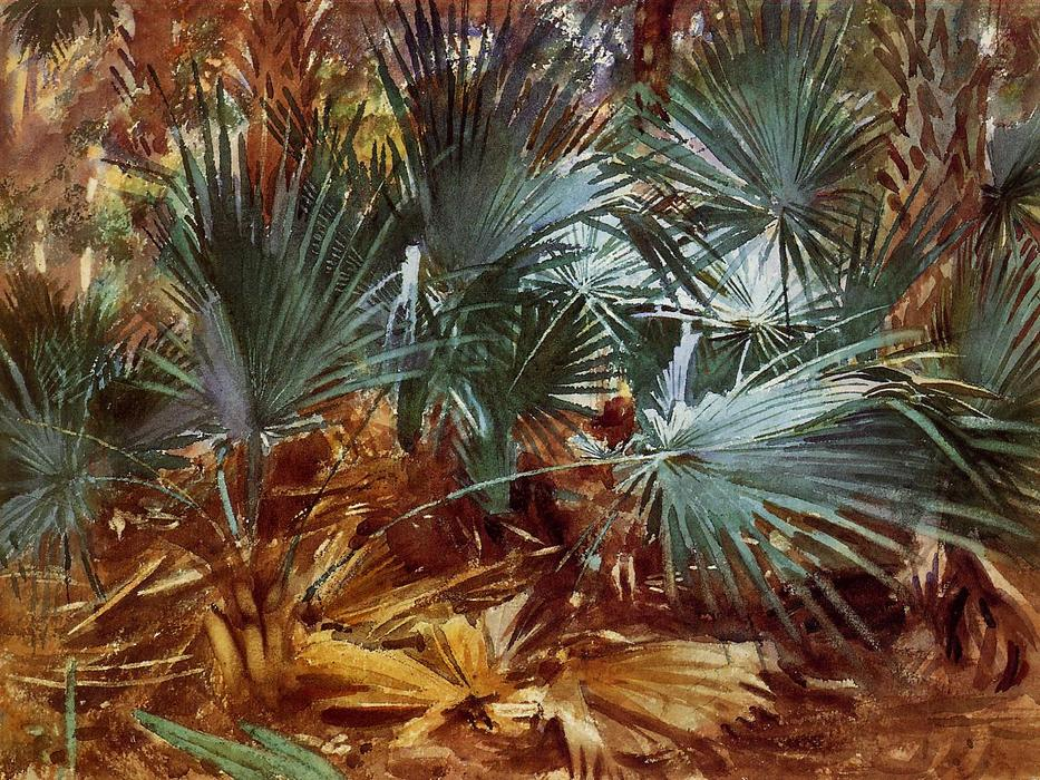 Palmettos, Watercolour by John Singer Sargent (1856-1925, Italy)