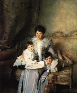 John Singer Sargent - Mrs Knowles and her Children