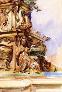 John Singer Sargent - The Great Fountain of Bologna