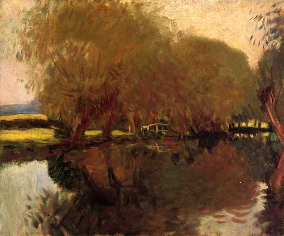 A Backwater at Calcot Near Reading, 1888 by John Singer Sargent (1856-1925, Italy) | Paintings Reproductions John Singer Sargent | WahooArt.com