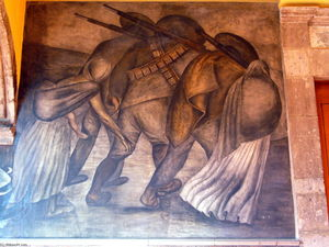Jose Clemente Orozco - Revolutionaries on the march