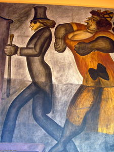 Jose Clemente Orozco - The Rich People (detail)