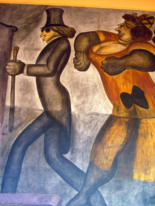 The Rich People (detail), 1924 by Jose Clemente Orozco (1883-1949, Mexico) |  | WahooArt.com