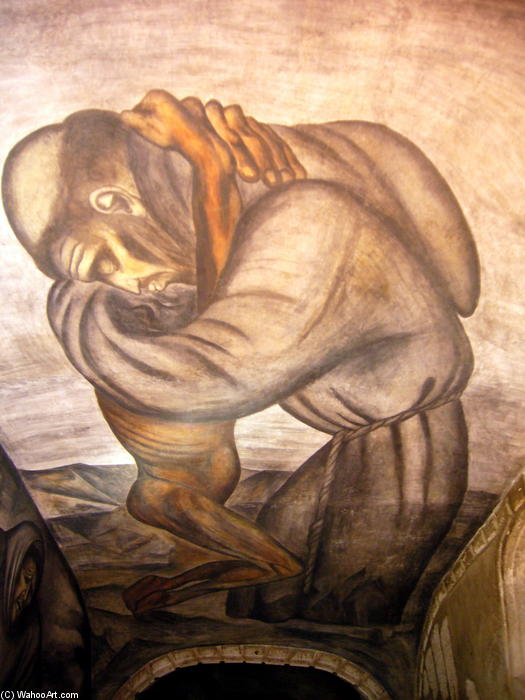 The Franciscans, 1926 by Jose Clemente Orozco (1883-1949, Mexico) |  | WahooArt.com
