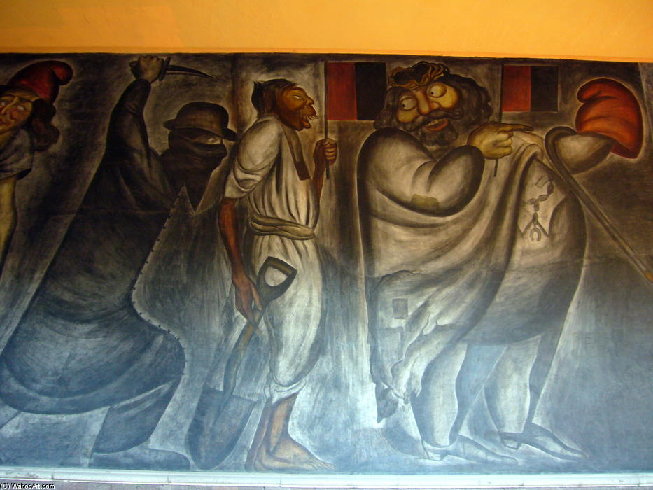 The Poor, 1926 by Jose Clemente Orozco (1883-1949, Mexico) |  | WahooArt.com