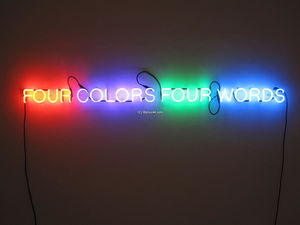 Joseph Kosuth - Four Colors Four Words