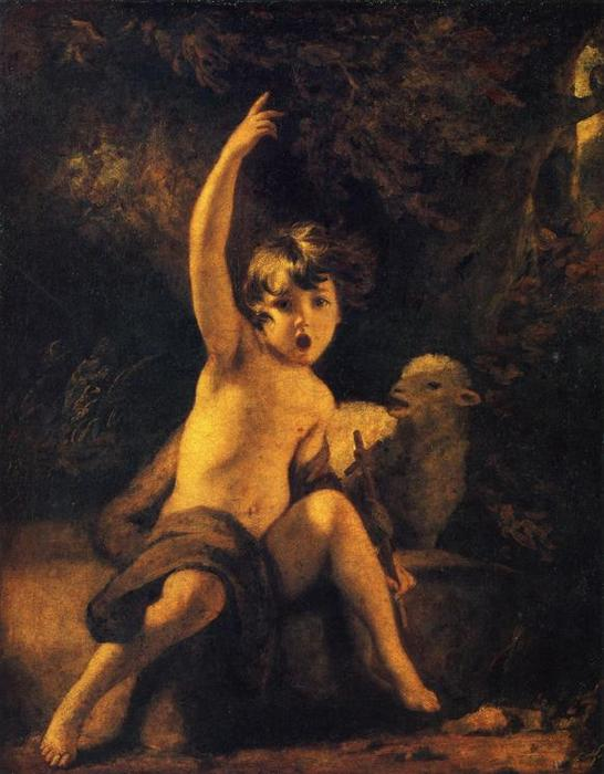 St. John the Baptist in the Wilderness, Oil On Canvas by Joshua Reynolds (1723-1792, United Kingdom)