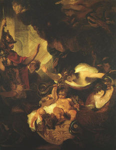 Joshua Reynolds - The Infant Hercules Strangling Serpents in His Crade