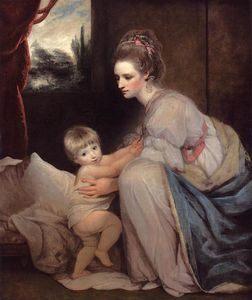 Joshua Reynolds - Mrs. William Beresford and her Son John, later Lord Decies