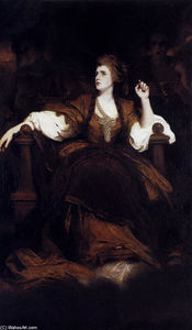 Joshua Reynolds - Portrait of Mrs. Siddons as the Tragic Muse