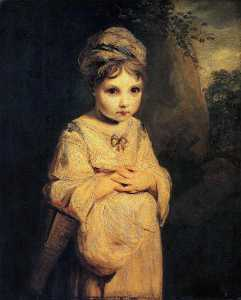 Buy Museum Art Reproductions | The Strawberry Girl, 1777 by Joshua Reynolds (1723-1792, United Kingdom) | WahooArt.com